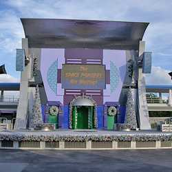A Totally Tomorrowland Christmas stage