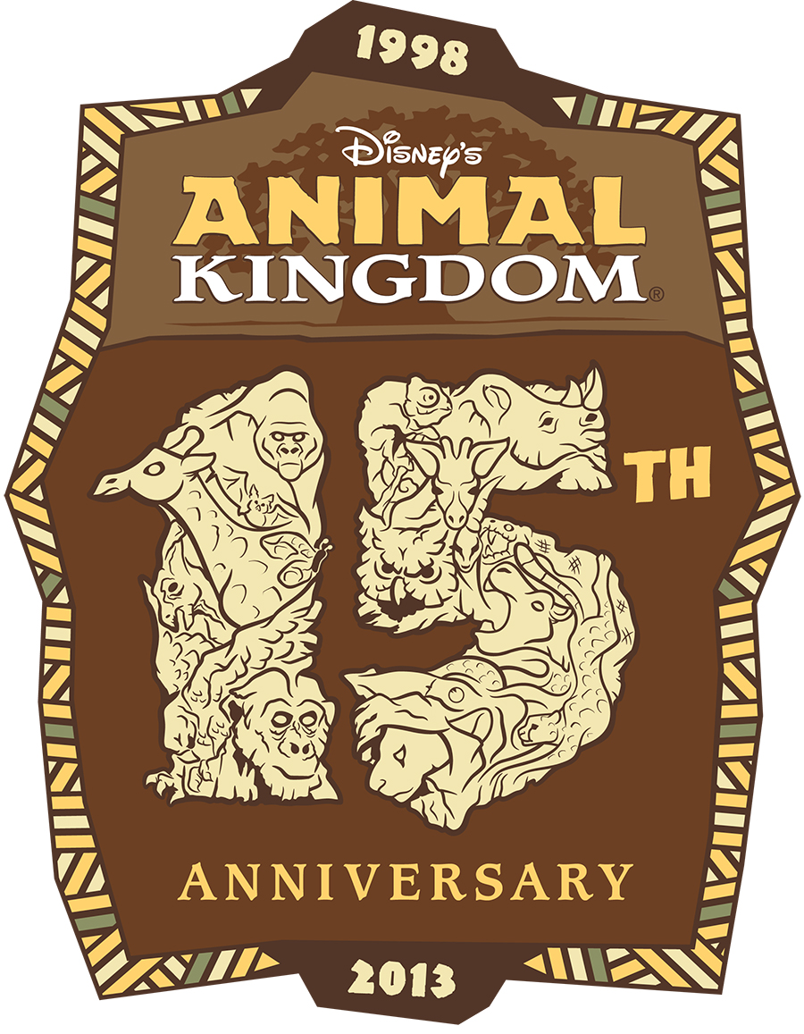 Disney's Animal Kingdom 15th anniversary logo