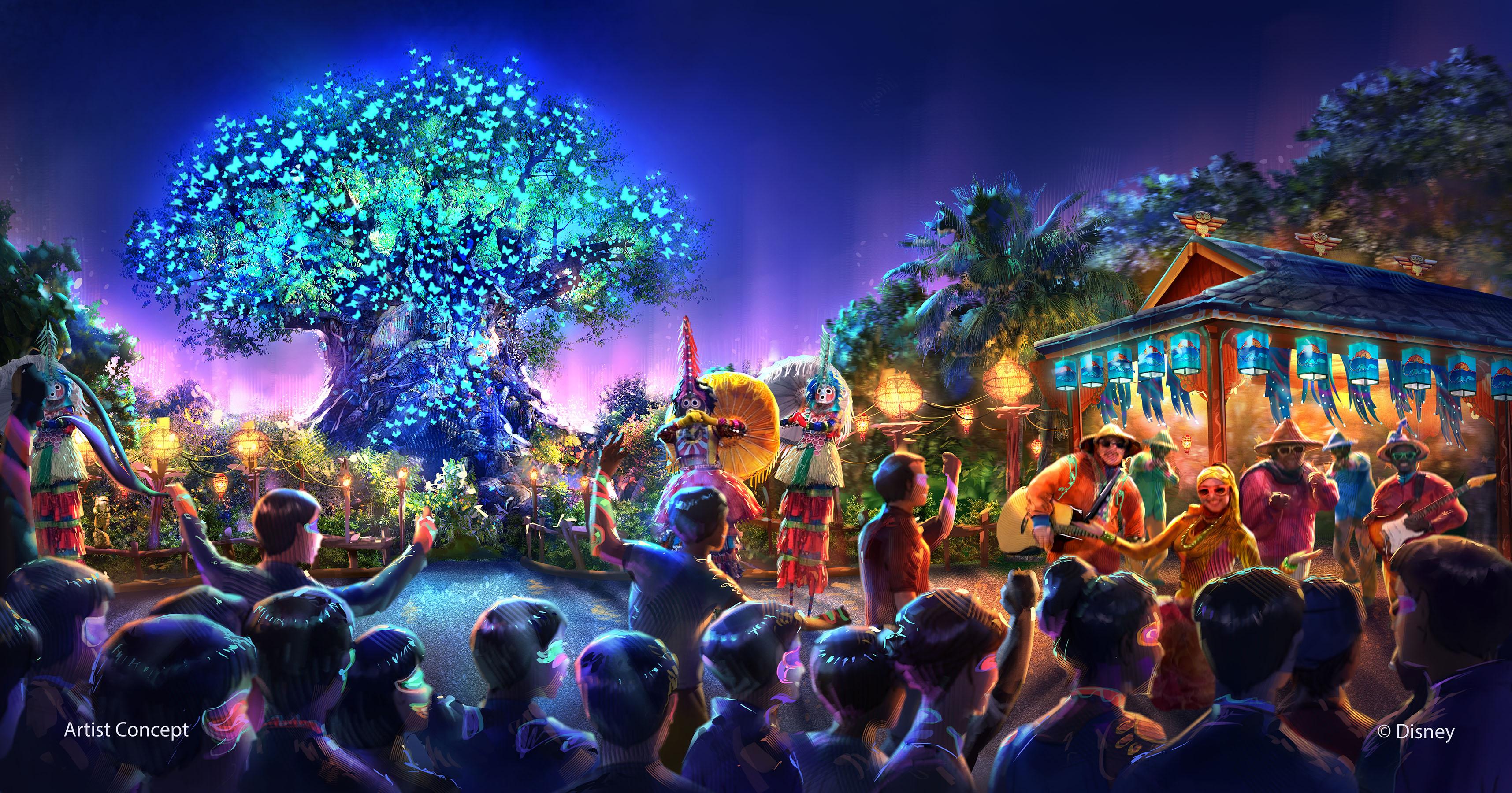Nighttime entertainment at Disney's Animal Kingdom concept art
