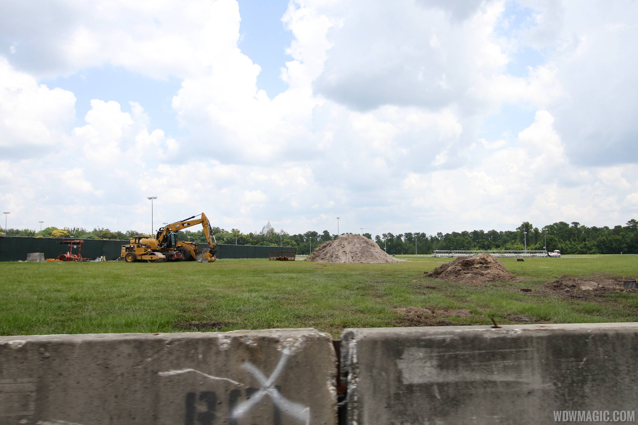 Yeti parking lot construction