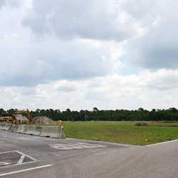Yeti Parking Lot construction at Disney's Animal Kingdom