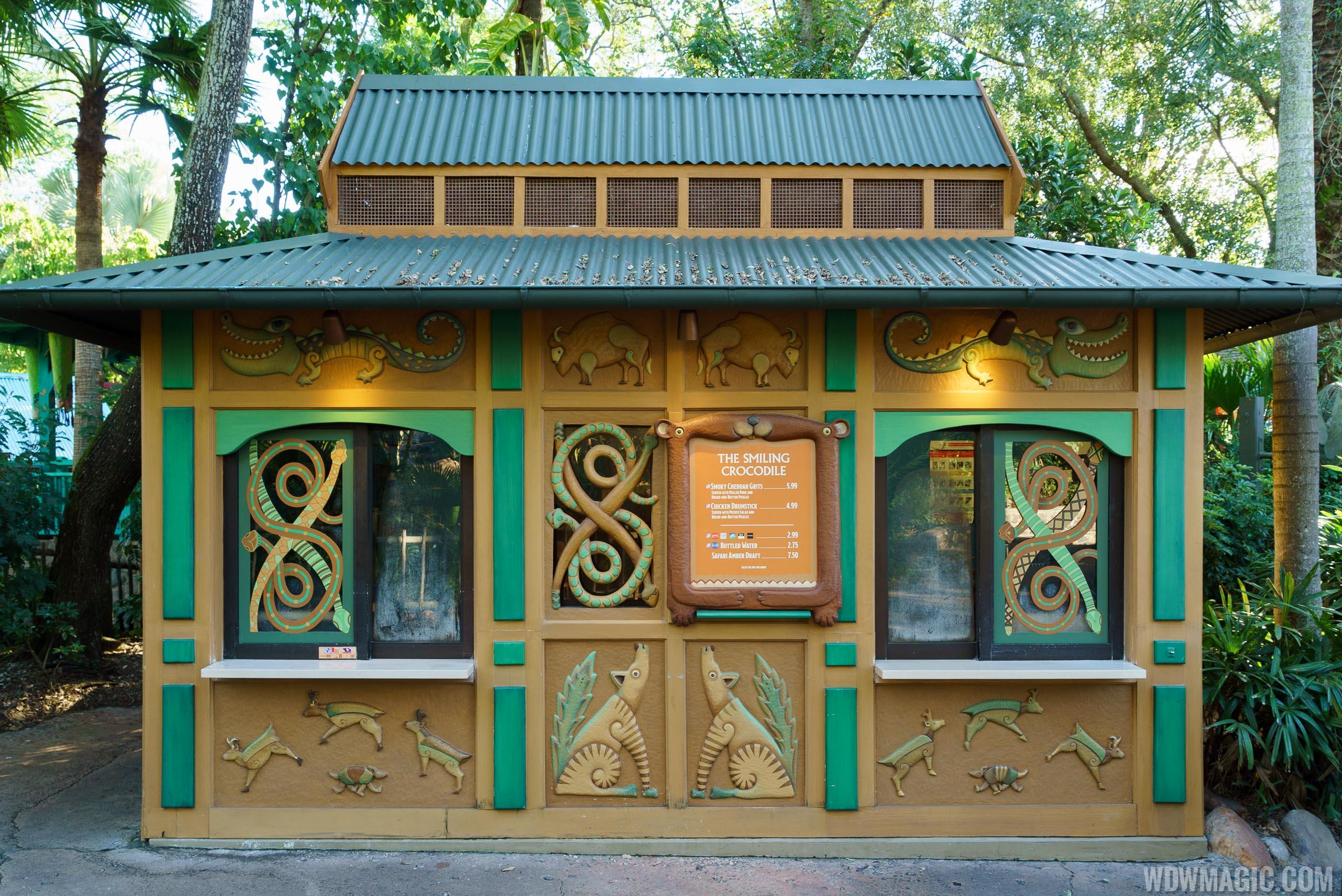 The Smiling Crocodile kiosk