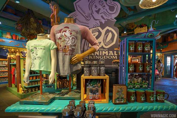 Disney's Animal Kingdom 20th anniversary merchandise