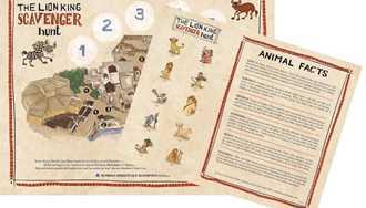 The Lion King Scavenger Hunt begins this week at Disney's Animal Kingdom