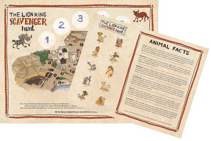 The Lion King scavenger hunt