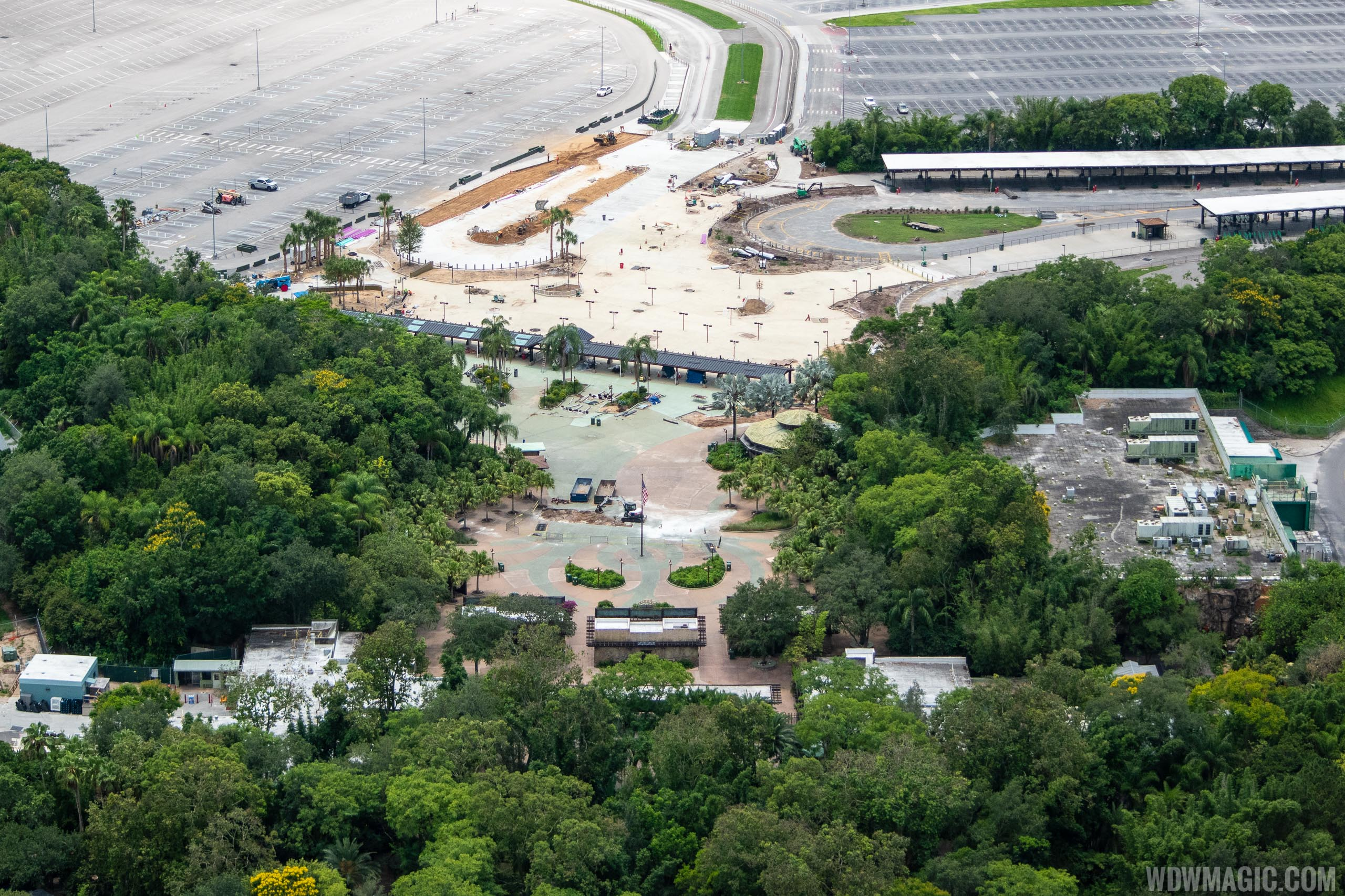 Disney's Animal Kingdom main entrance construction - June 2020