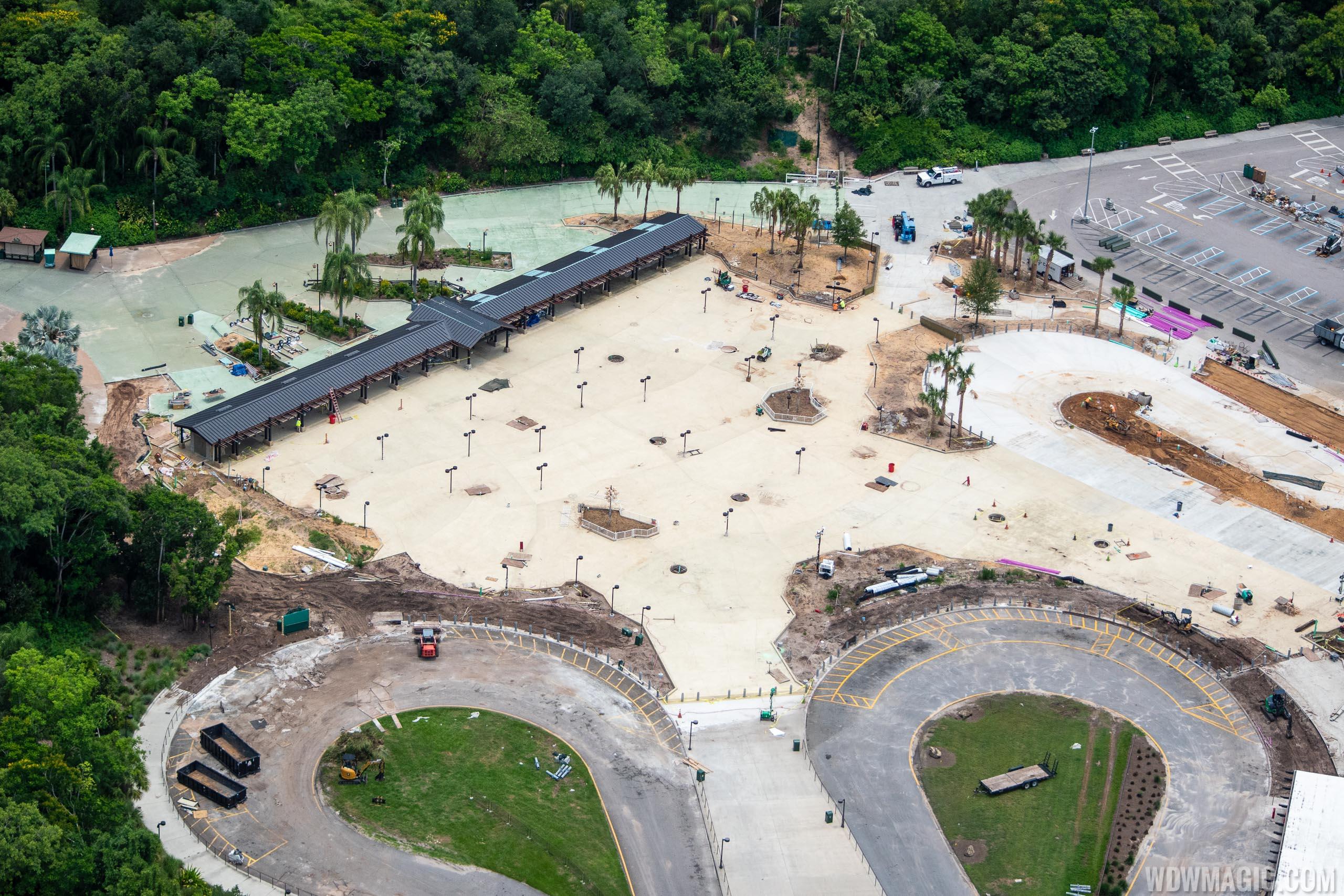 Disney's Animal Kingdom main entrance construction - June 2020