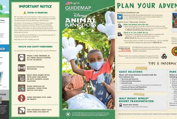 Disney's Animal Kingdom December 2020 guidemap