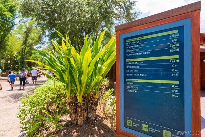 Digital Tip Boards at Disney's Animal Kingdom