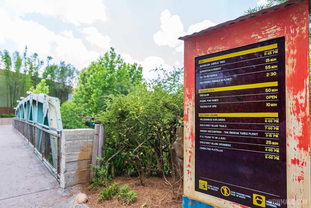 Digital Tip Boards arrive at Disney's Animal Kingdom