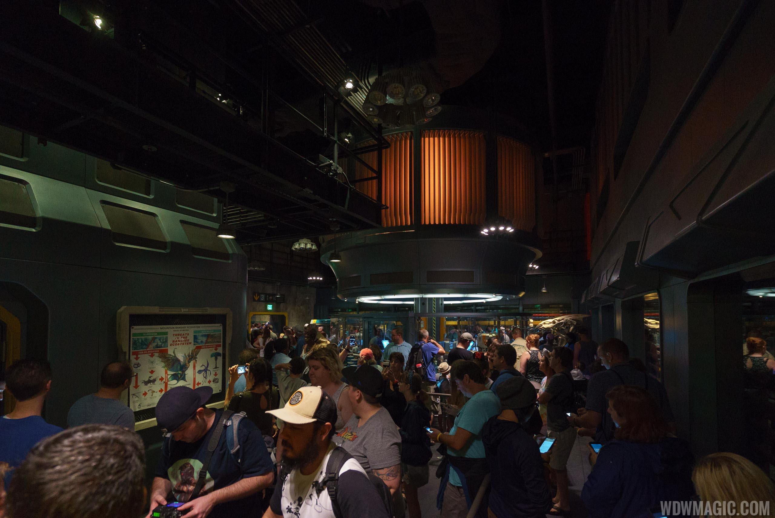 Avatar Flight of Passage queue - The partially restored RDA lab