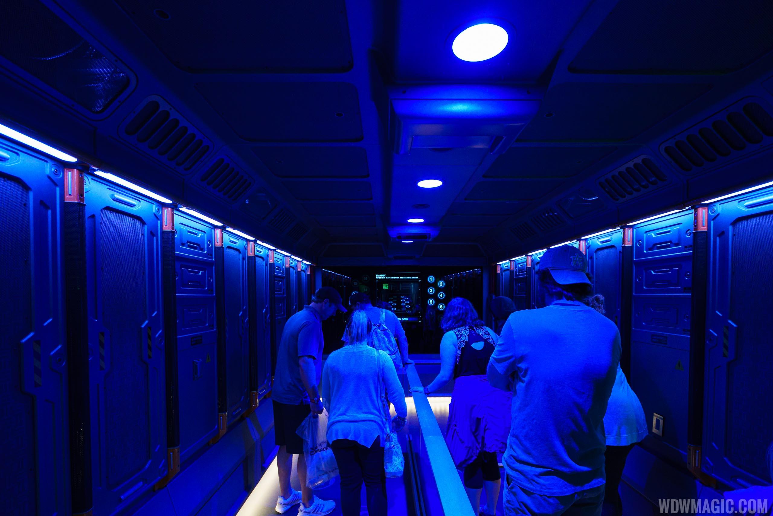 Avatar Flight of Passage queue - Decontamination room