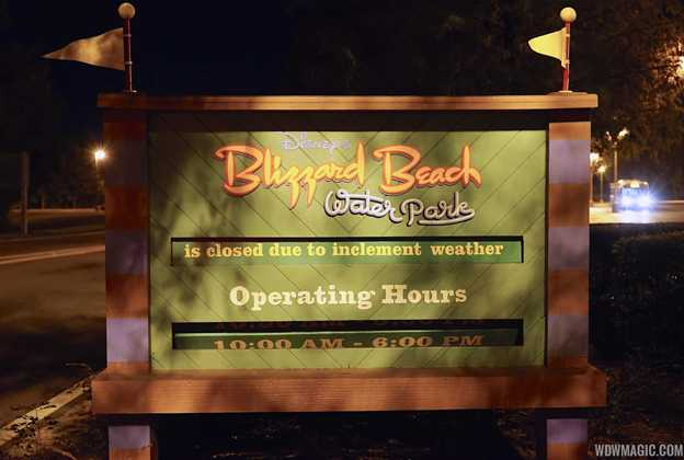 Blizzard Beach closed due to inclement weather