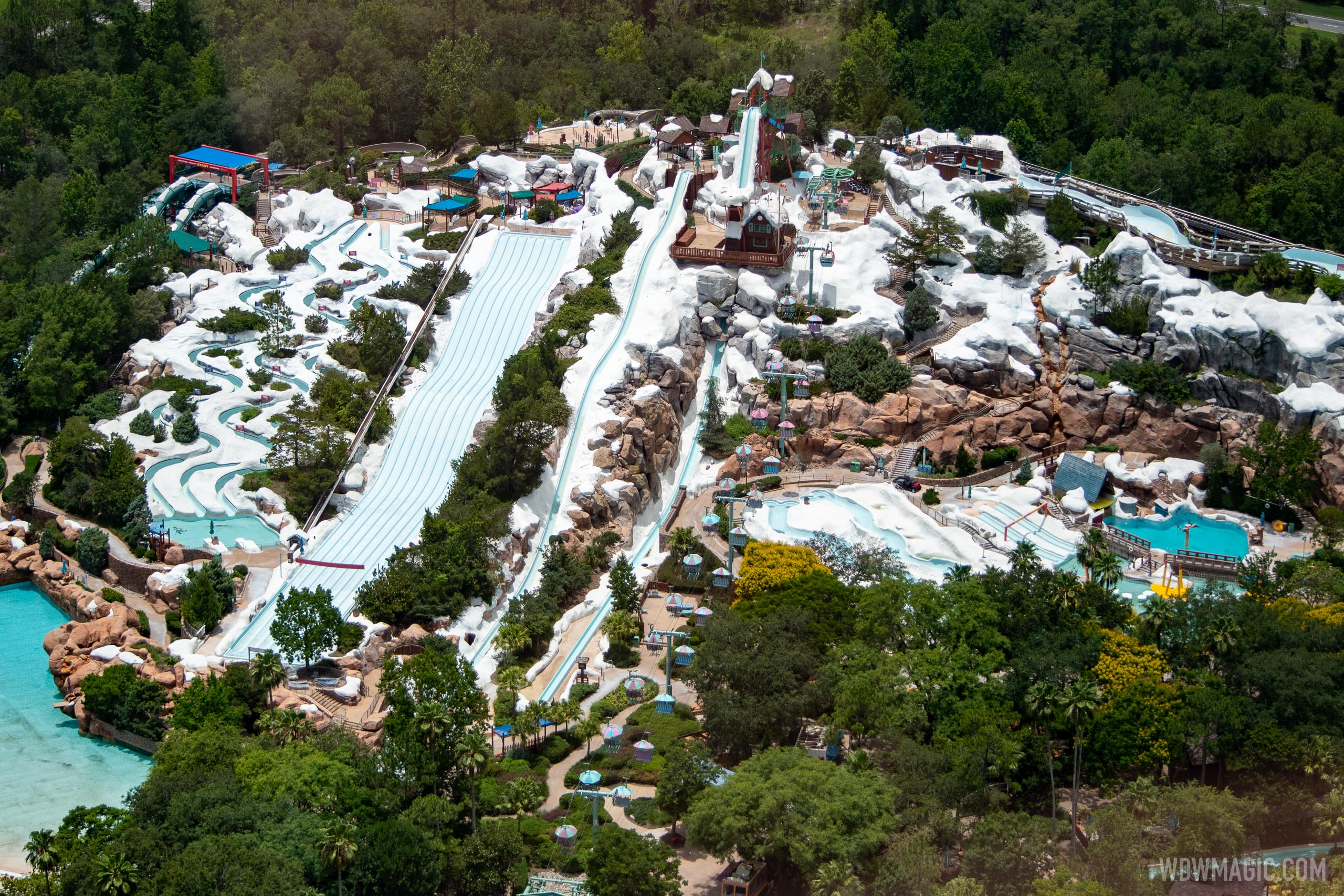 Blizzard Beach closed during the COVD-19 shutdown