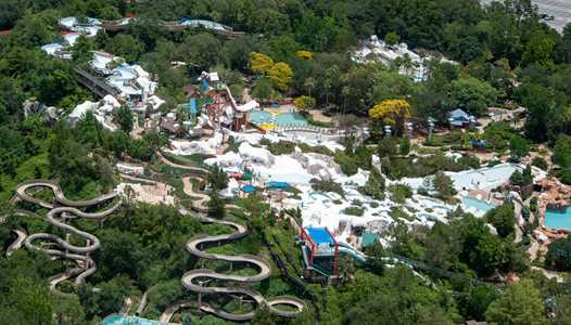PHOTOS - Aerial views of Blizzard Beach and Typhoon Lagoon as both remain closed