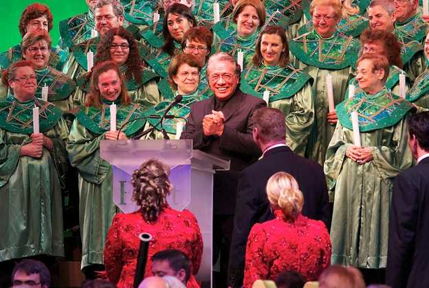Edward James Olmos narrating Candlelight Processional 2011
