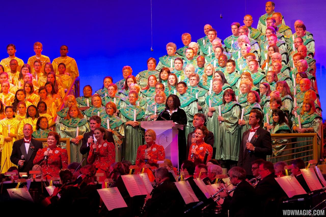 Whoopi Goldberg narrating Candlelight Processional 2012