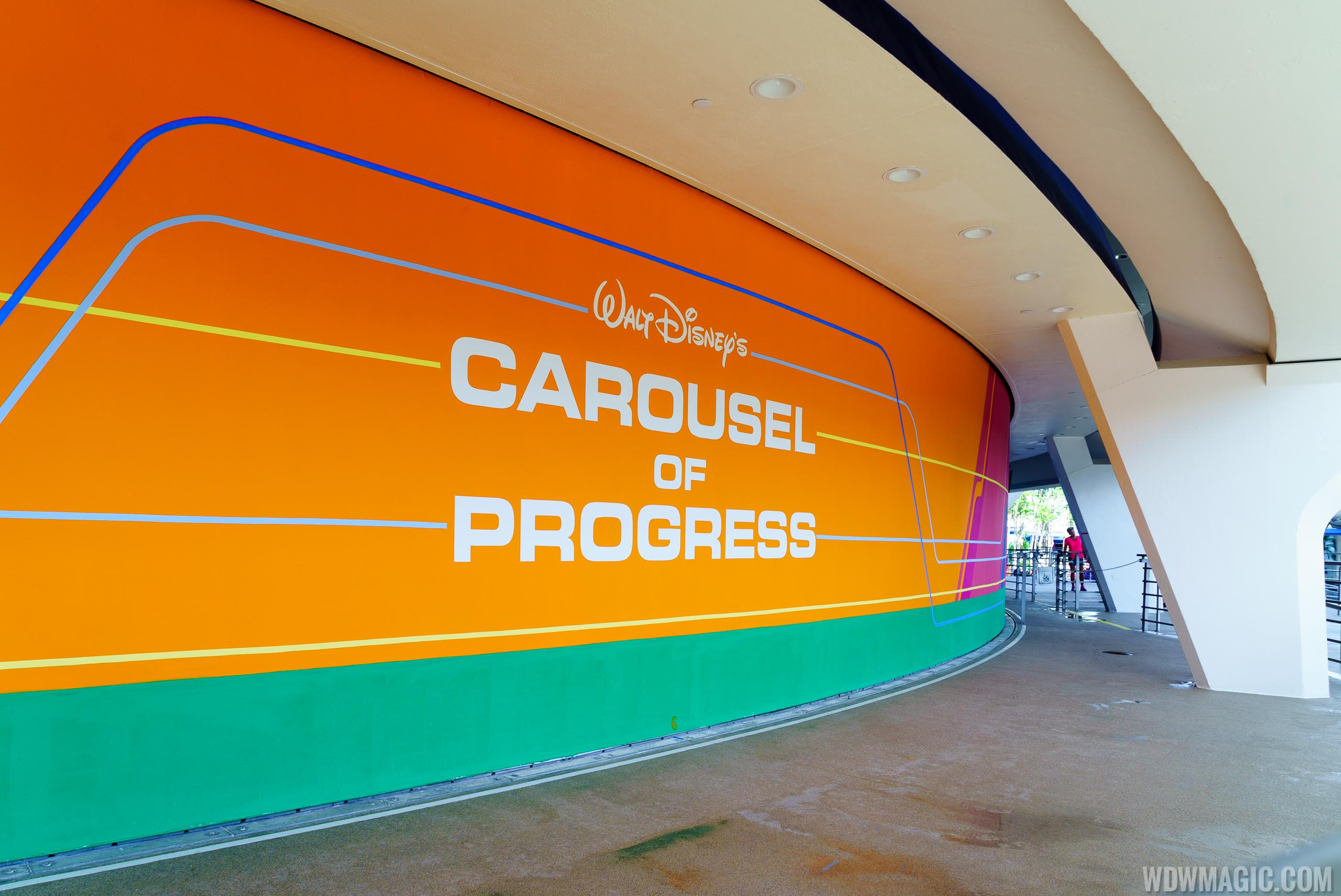 New exterior paint scheme at Carousel of Progress