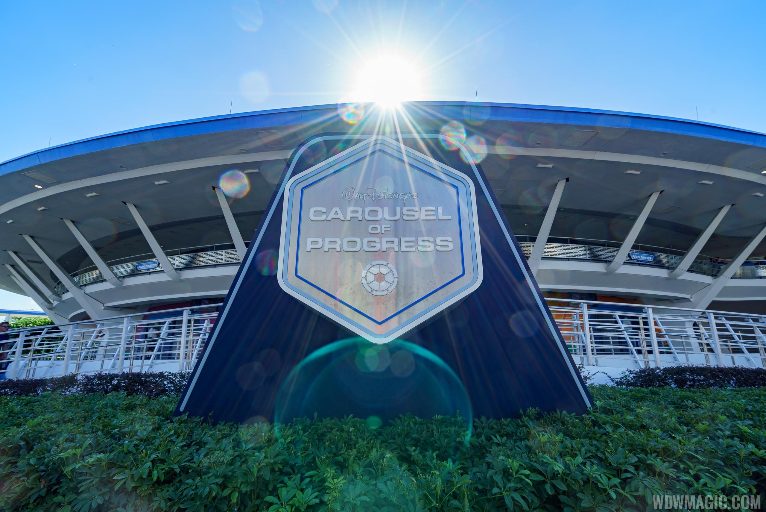 New marquee sign at Carousel of Progress