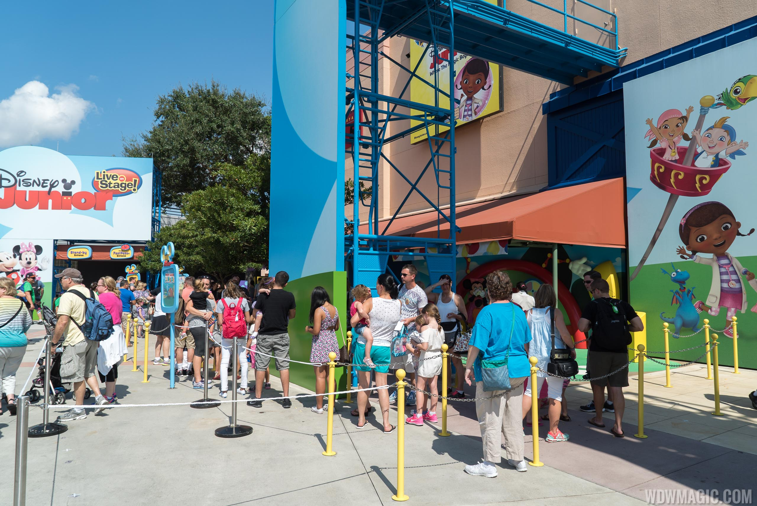 Disney's Hollywood Studios has a Disney Junior meet and greet area