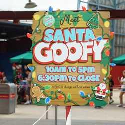 Santa Goofy meet and greet