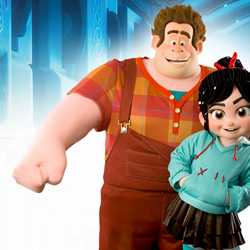 Ralph and Vanellope von Schweetz meet and greet