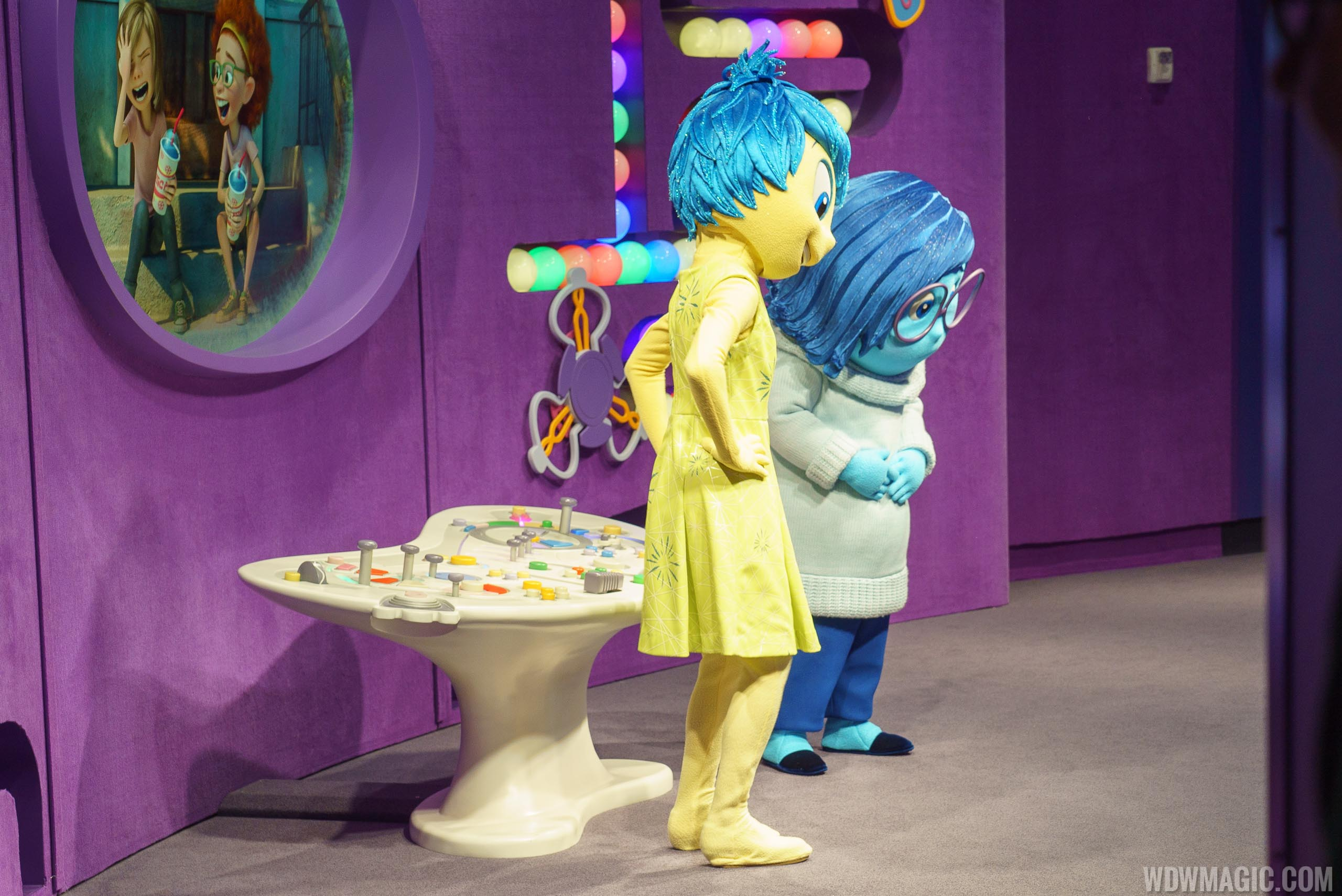 Inside Out with Joy and Sadness meet and greet