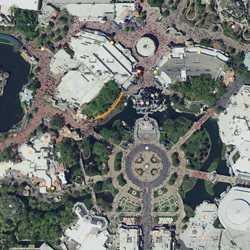 Liberty Square to Cinderella Castle walkway widening overview
