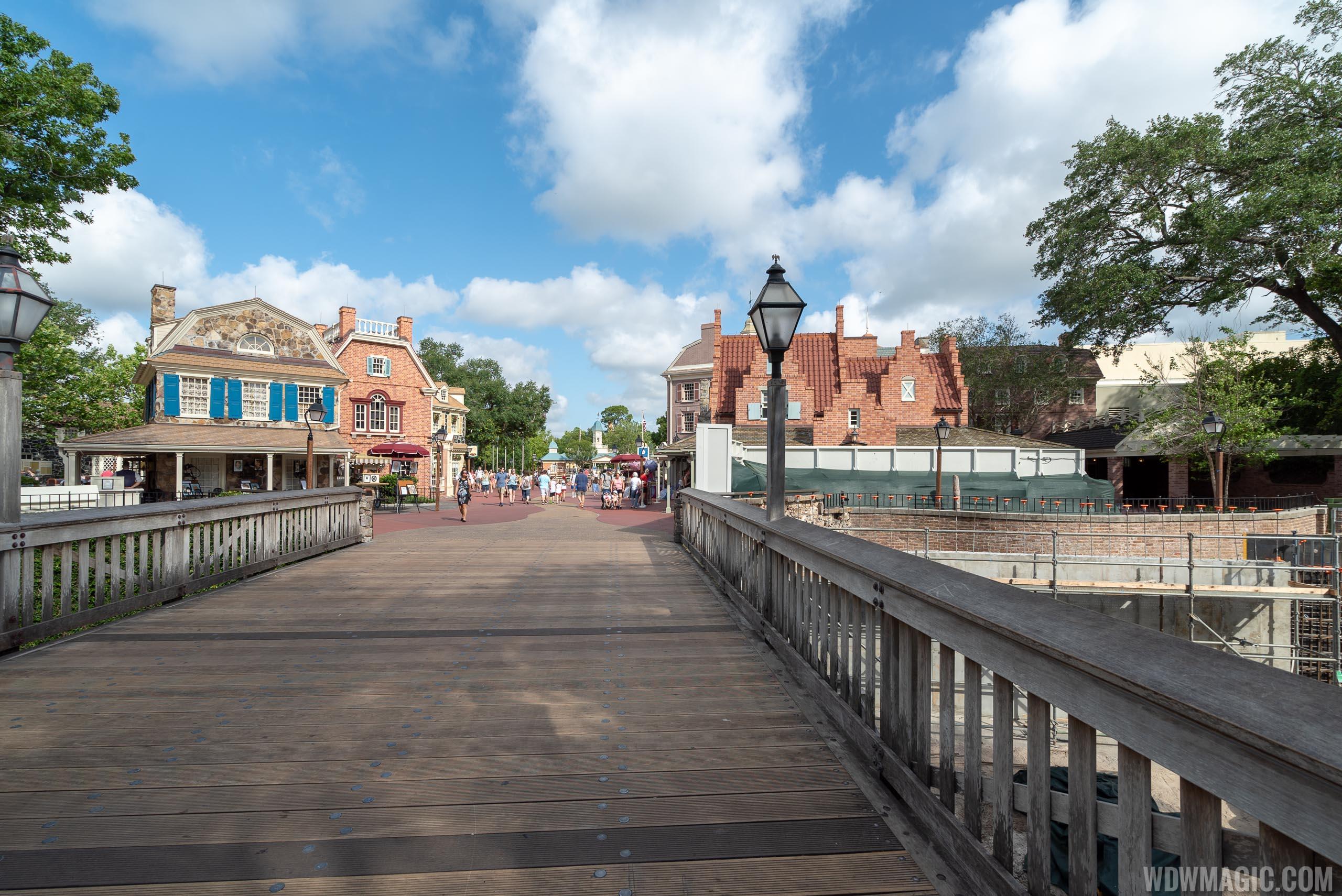 Liberty Square to Fantasyland walkway expansion construction - May 2019
