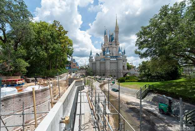 Liberty Square to Fantasyland walkway expansion construction - July 2019