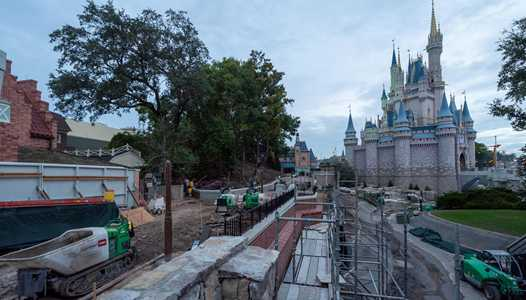 PHOTOS - Liberty Square to Fantasyland walkway widening construction