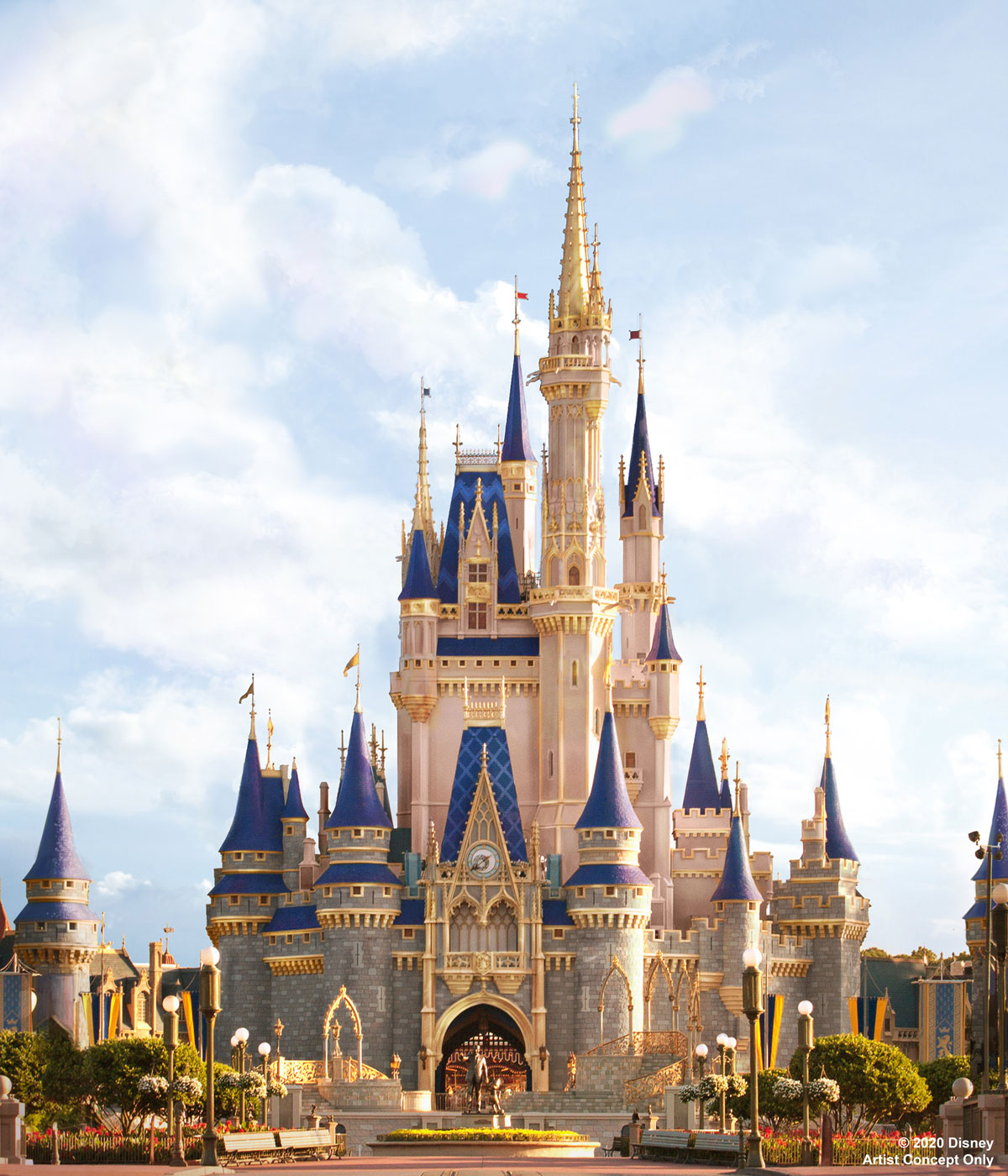 Concept Art Cinderella Castle enhancements
