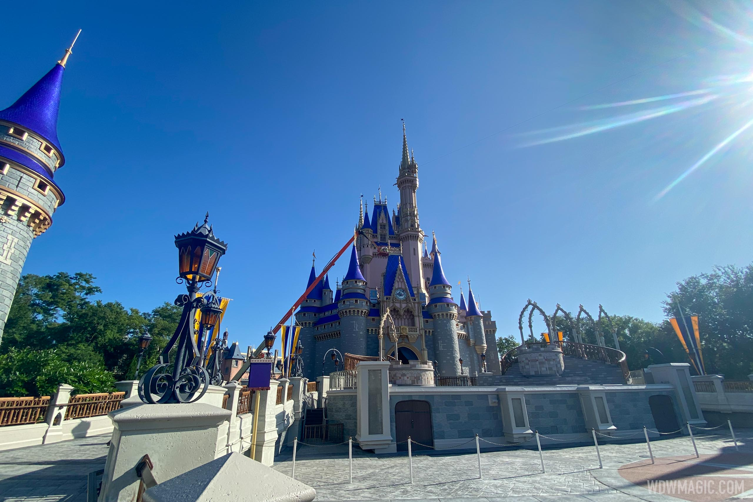 Cinderella Castle repainting - July 7 2020