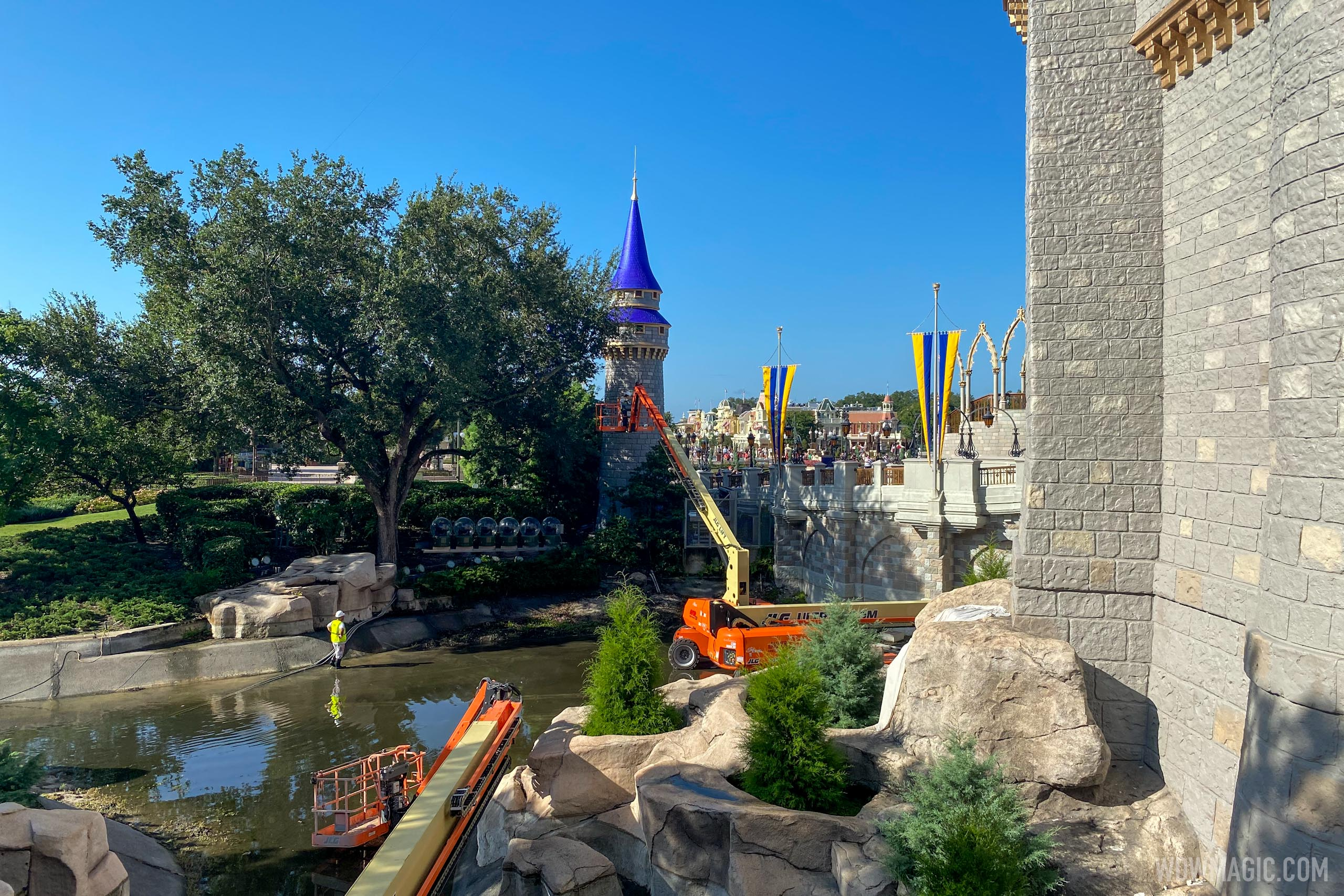 Cinderella Castle repainting - July 7 2020