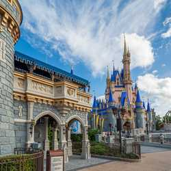 Cinderella Castle repainting - July 21 2020
