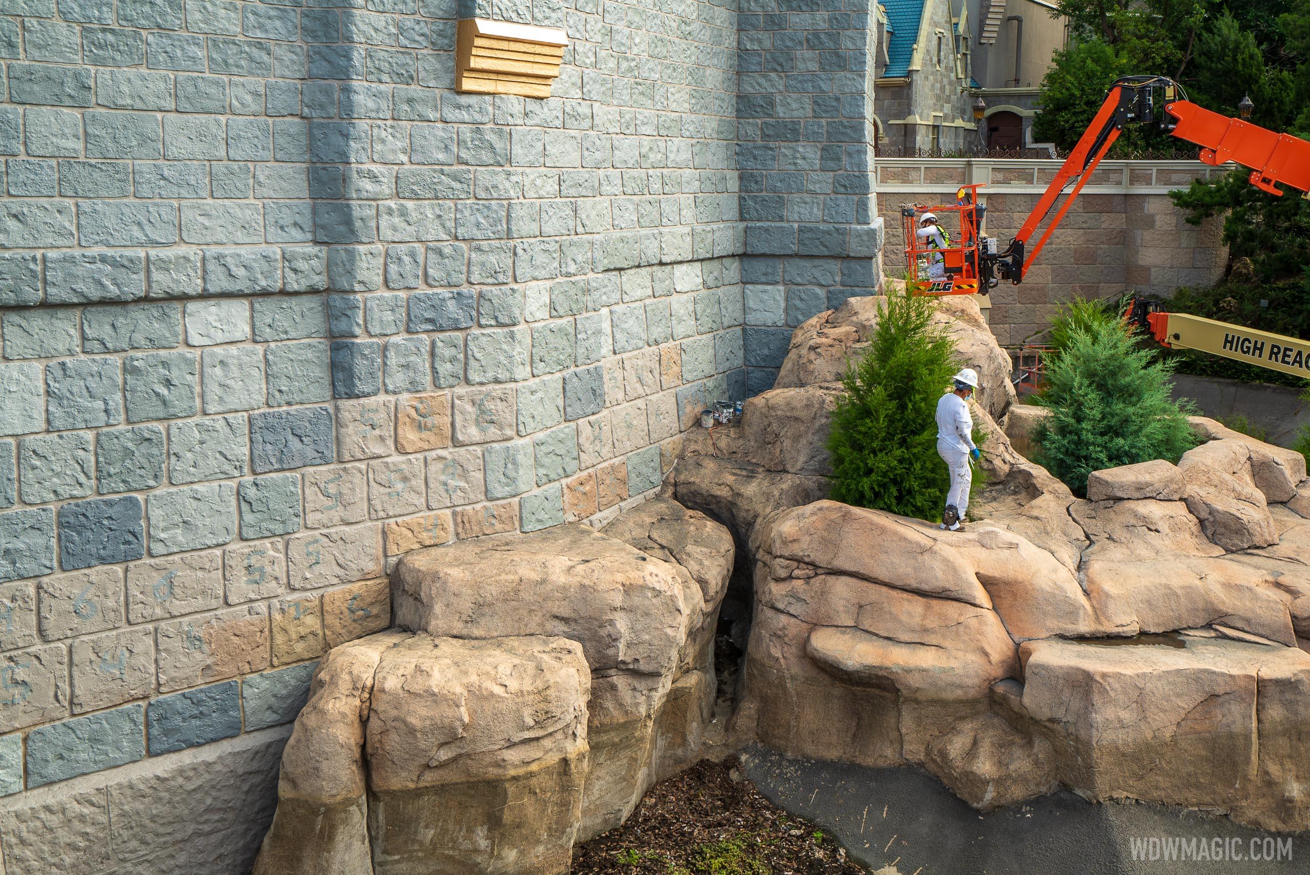 Cinderella Castle repainting - July 21 2020