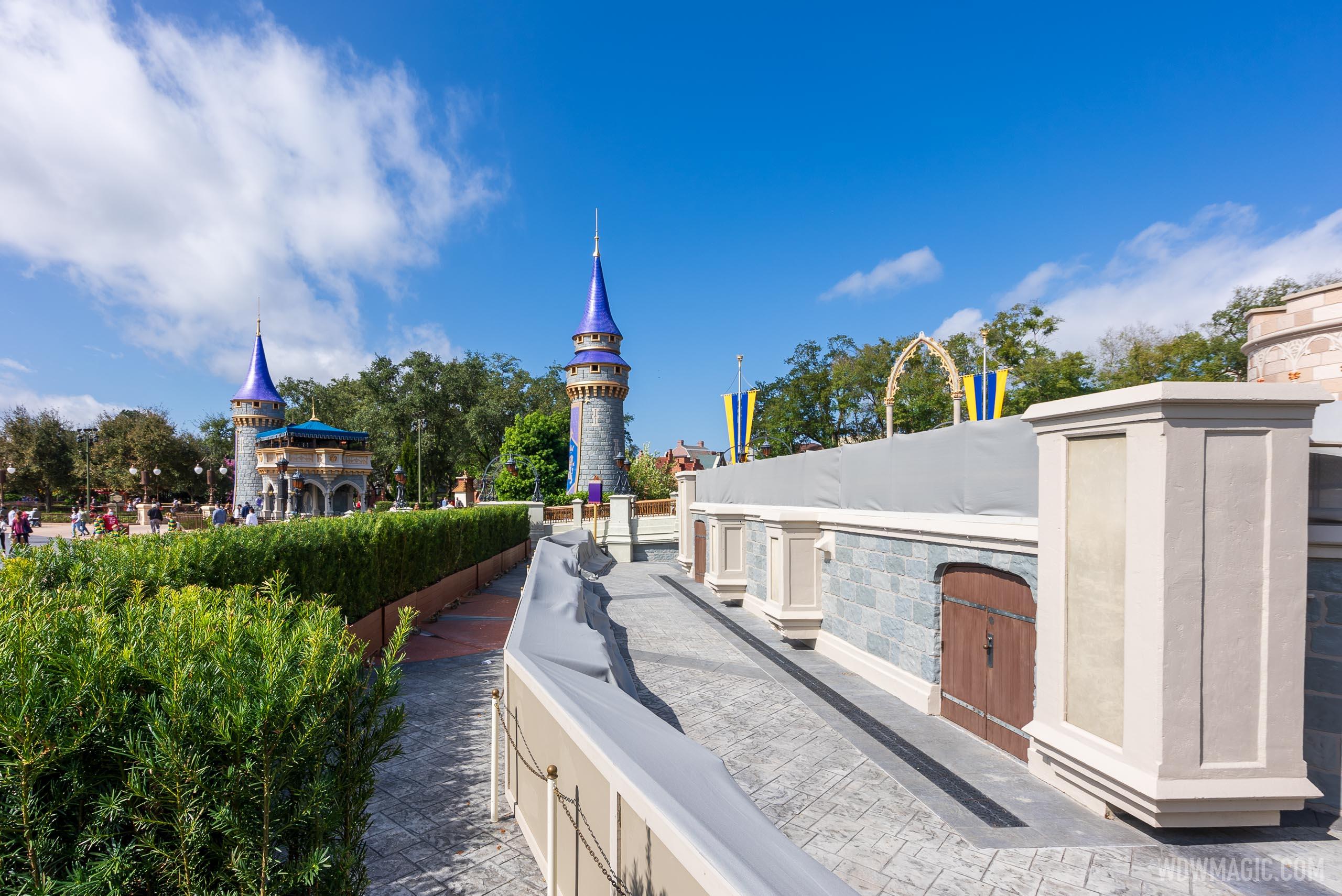 Cinderella Castle stage refurbishment - February 16 2021