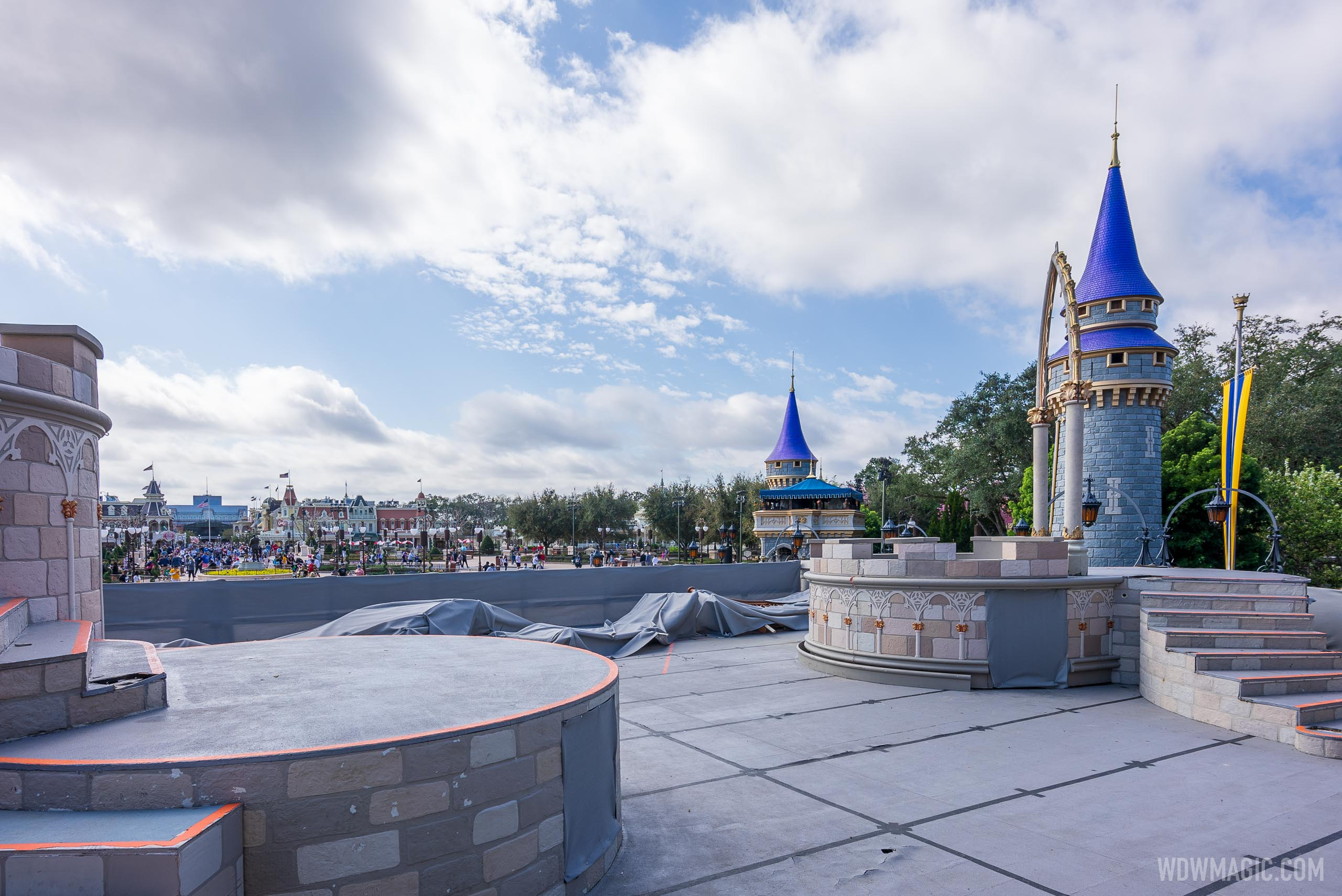 Cinderella Castle stage refurbishment - February 16 2021