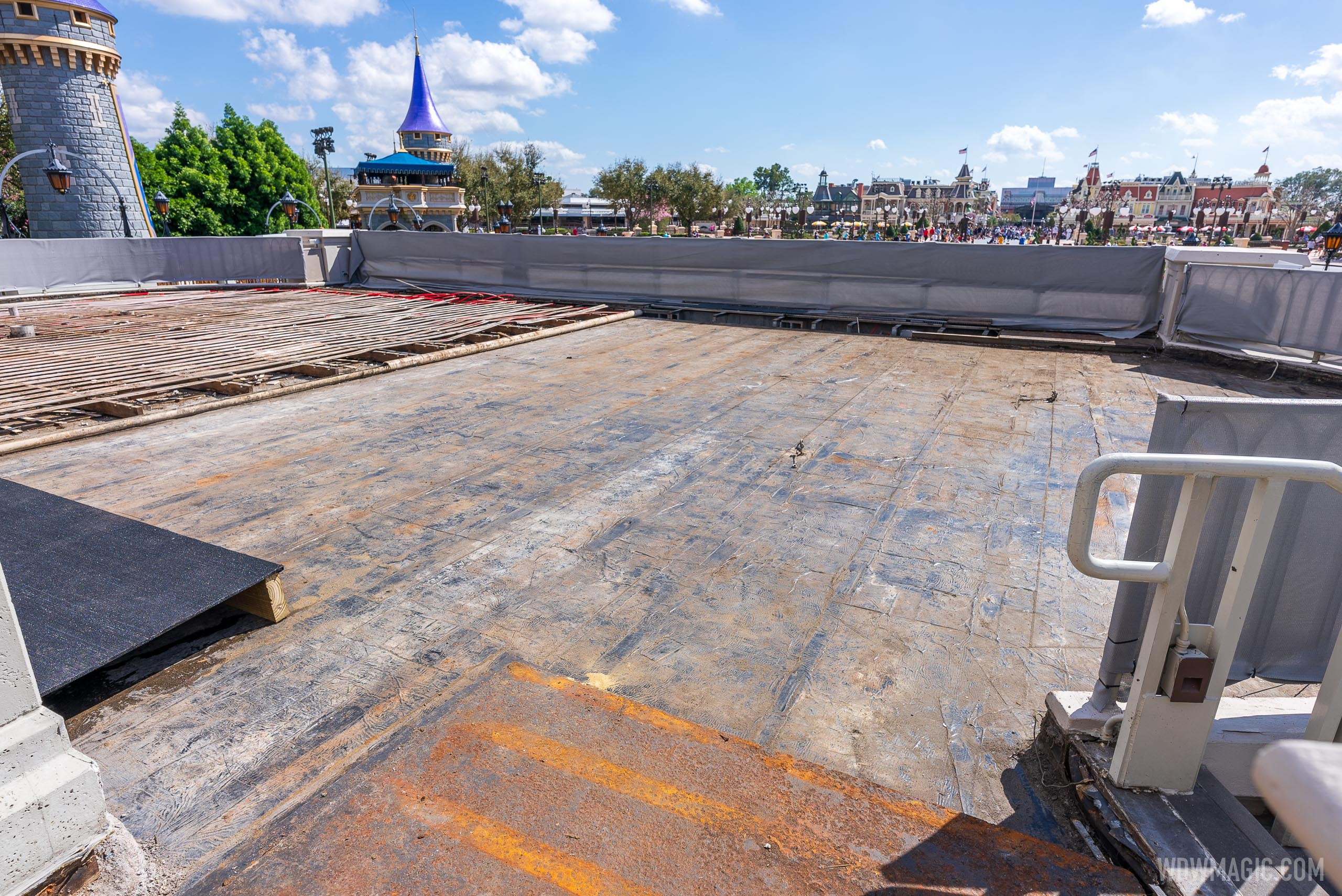 Cinderella Castle stage refurbishment - February 23 2021