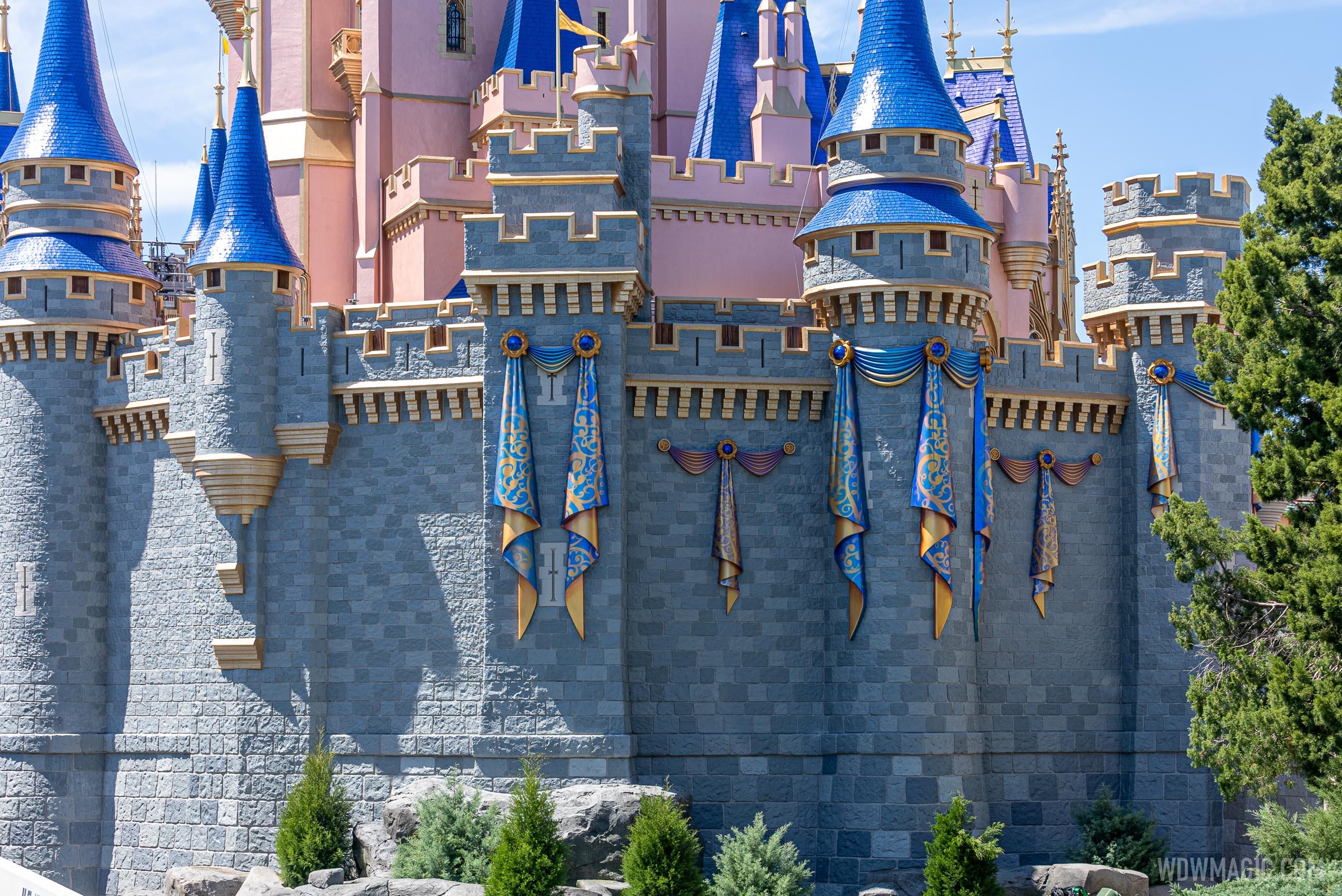 Cinderella Castle jabot and swag - east side