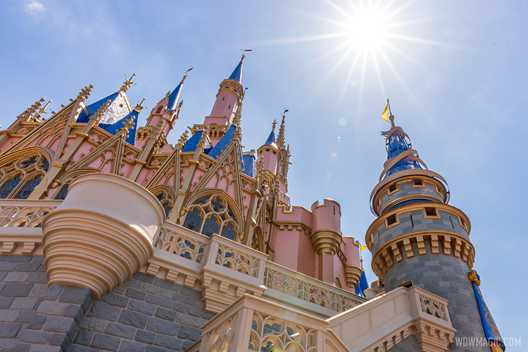 First spire ribbon installed at Cinderella Castle