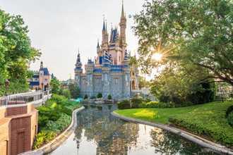 Moat refilled around Cinderella Castle as Disney World 50th anniversary decoration work wraps up