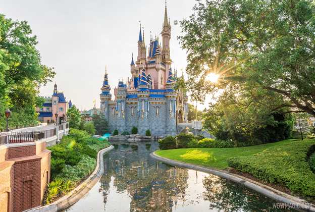 Moat refilled at Cinderella Castle - May 2021