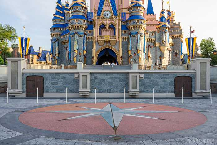 Cinderella Castle stage refurbishment - May 3 2021