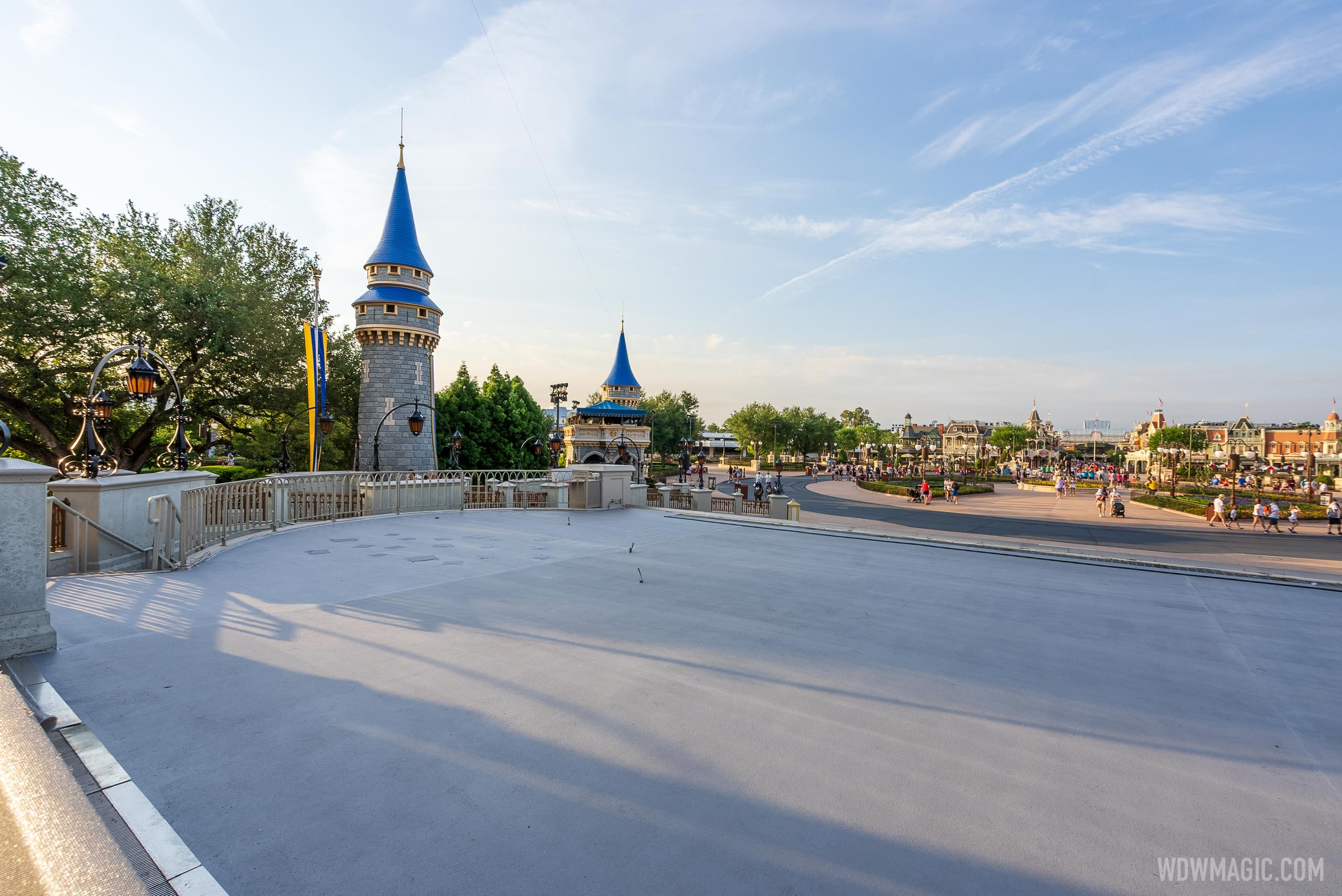 Cinderella Castle stage refurbishment - May 3 2021
