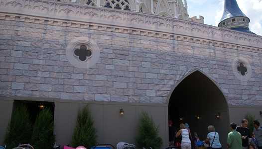 Cinderella Castle lower section under refubishment