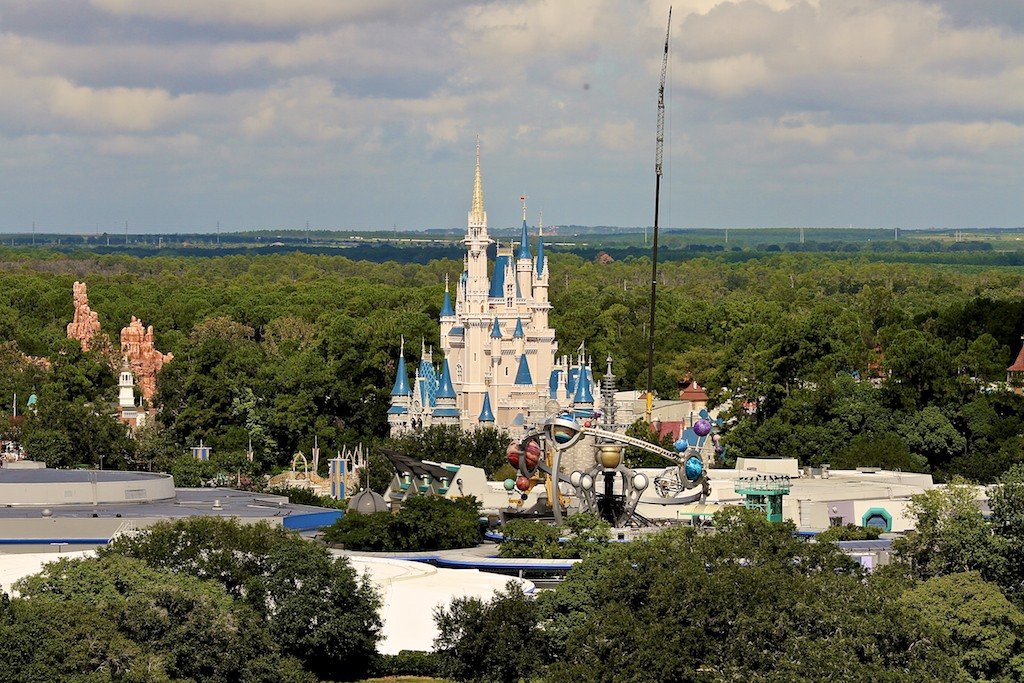 The crane at Cinderella Castle from a previous year