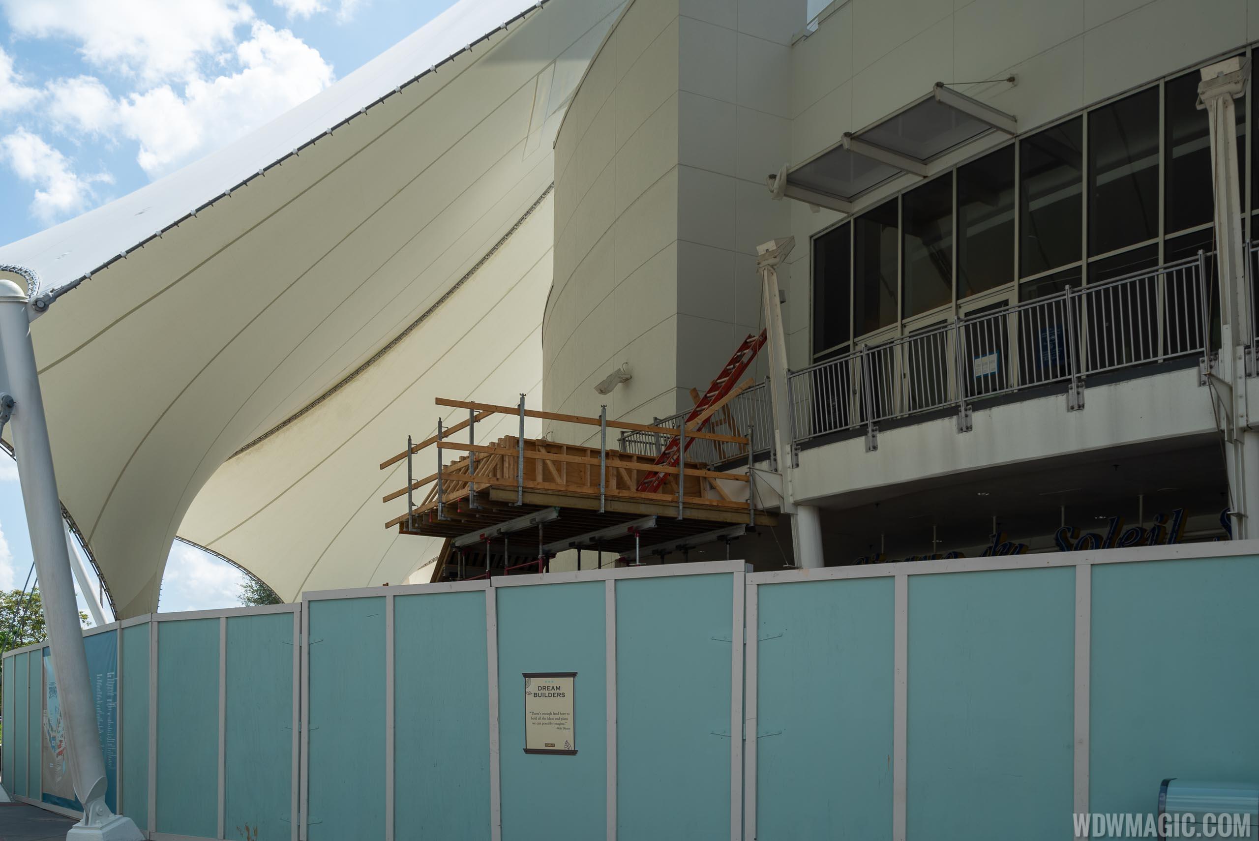 Cirque du Soleil exterior stair construction