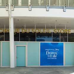 New Cirque du Soleil sign on building exterior