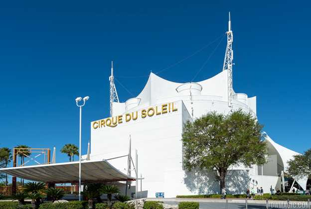 New Cirque du Soleil sign on building exterior